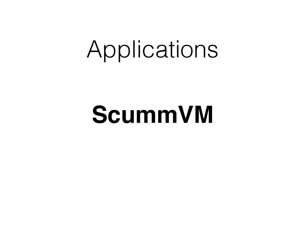 Applications ScummVM