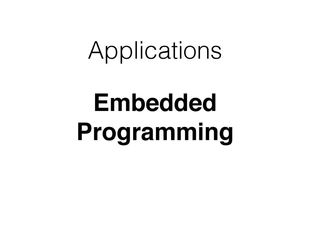 Applications Embedded Programming