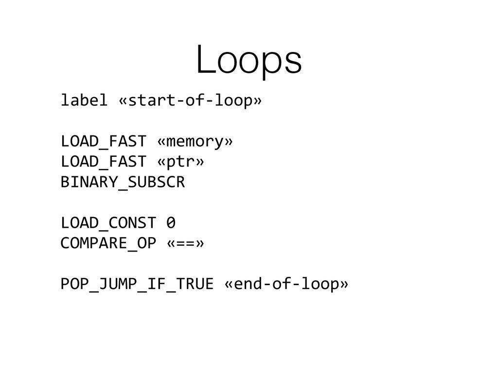 Loops label	