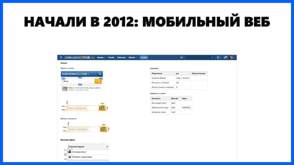 НАЧАЛИ В 2012: МОБИЛЬНЫЙ ВЕБ