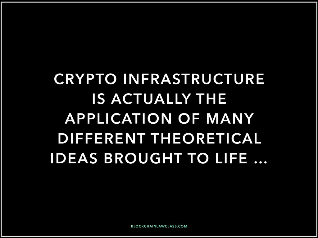CRYPTO INFRASTRUCTURE IS ACTUALLY THE APPLICATI...