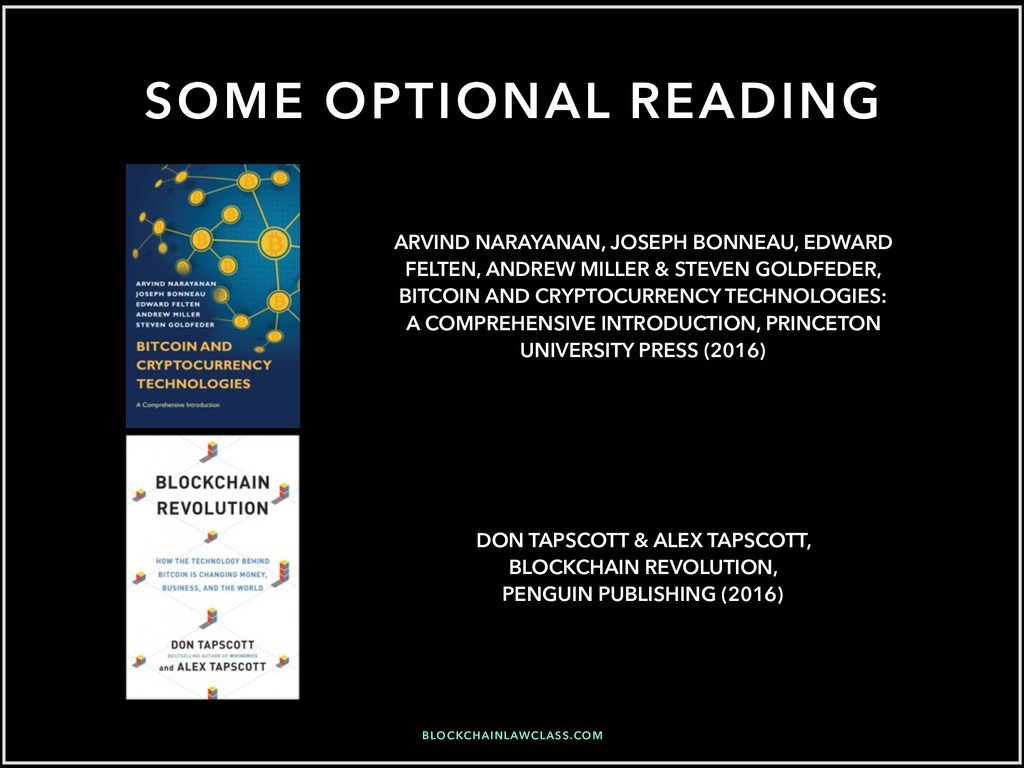 SOME OPTIONAL READING ARVIND NARAYANAN, JOSEPH ...