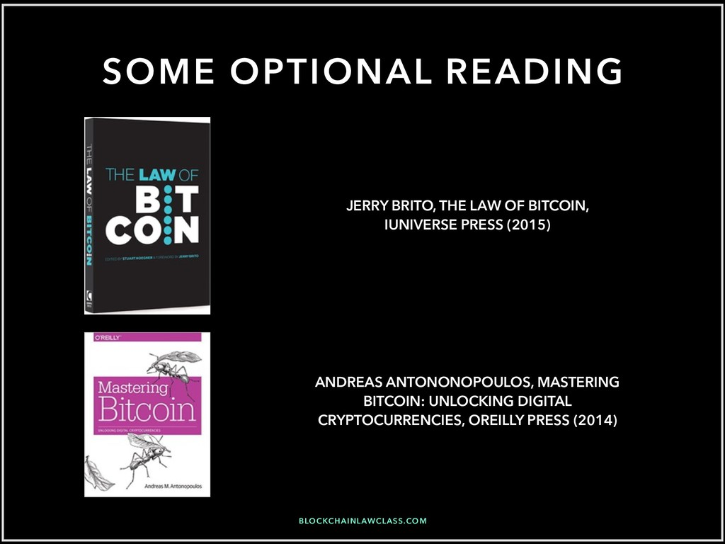 SOME OPTIONAL READING ANDREAS ANTONONOPOULOS, M...