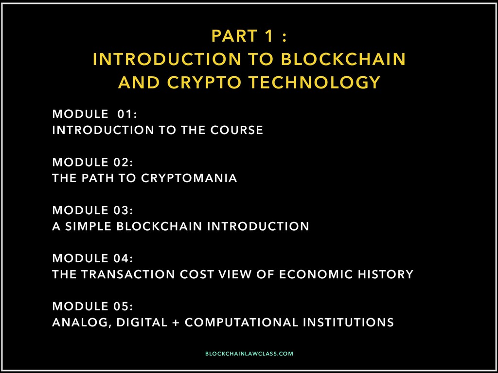 PART 1 : INTRODUCTION TO BLOCKCHAIN AND CRYPTO ...