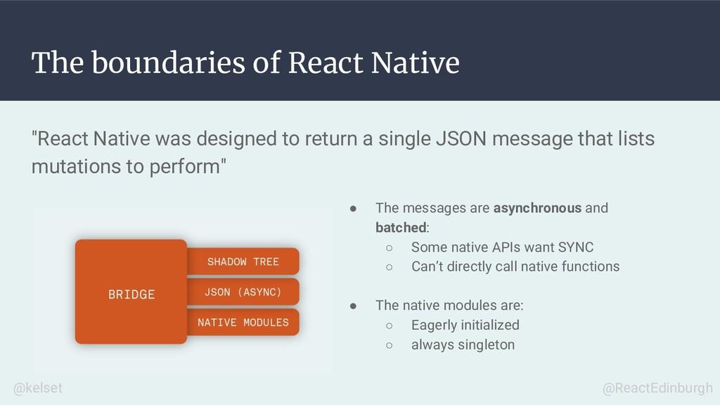 "The boundaries of React Native ""React Native wa..."
