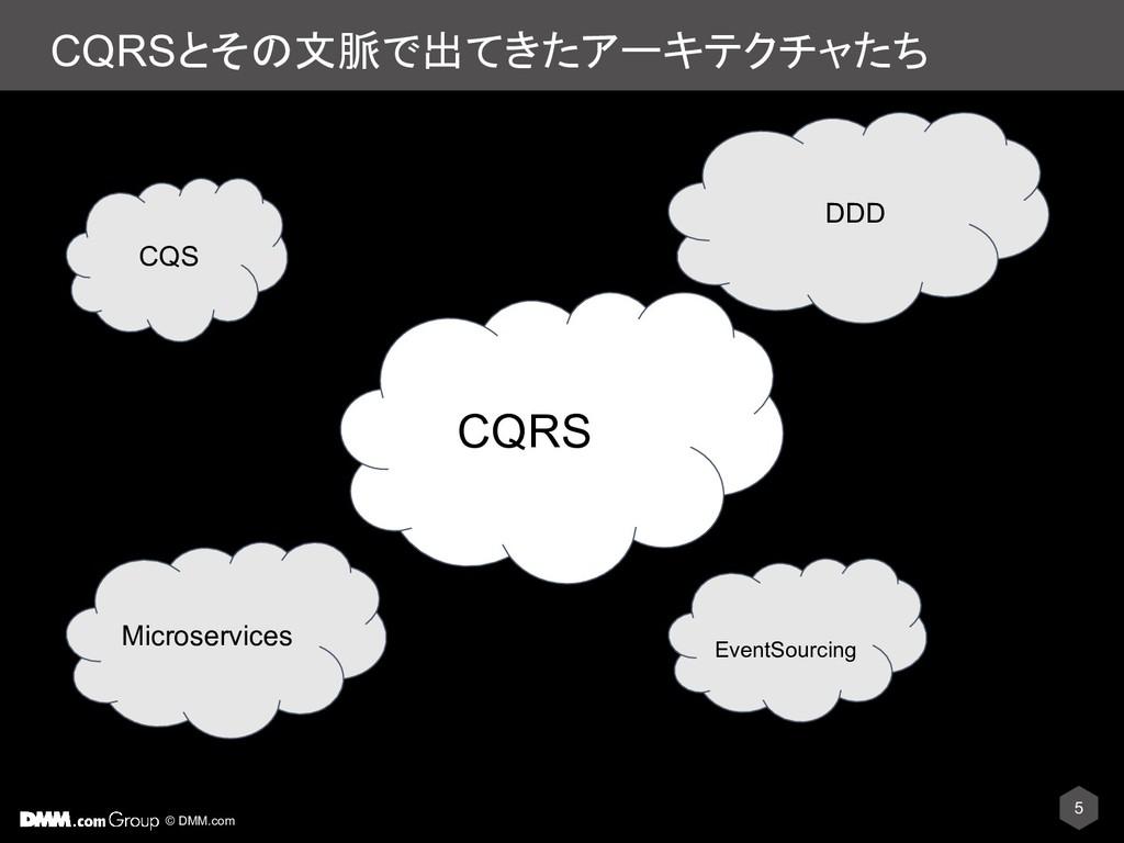 © DMM.com CQRSとその文脈で出てきたアーキテクチャたち 5 CQS CQRS DD...