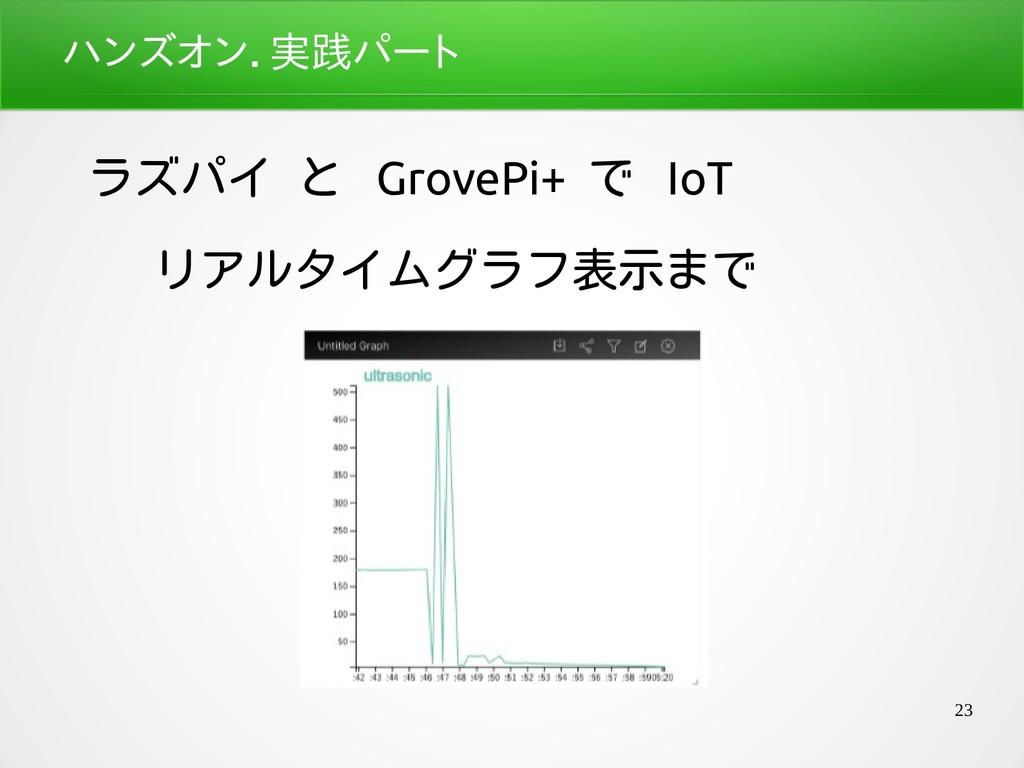23 ハンズオン.座学パート実践パートパート ラズパイ と GrovePi+ で IoT リア...