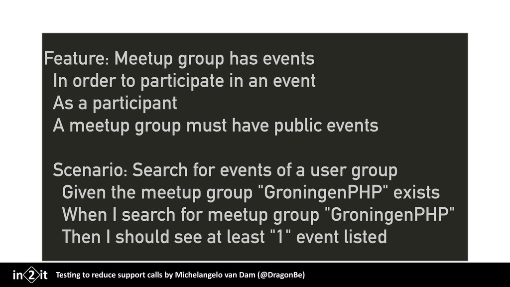 Feature: Meetup group has events In order to pa...
