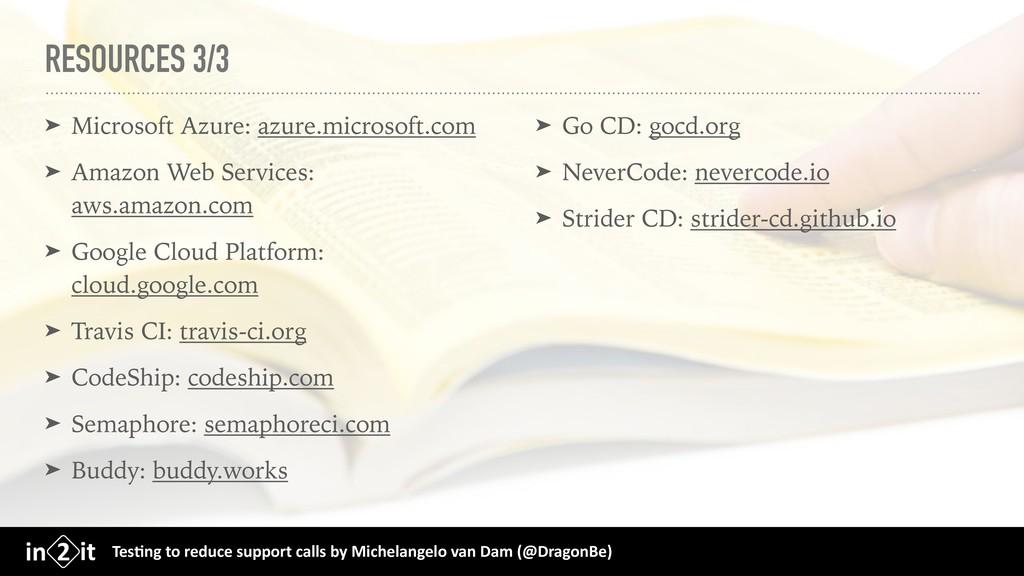 RESOURCES 3/3 ➤ Microsoft Azure: azure.microsof...