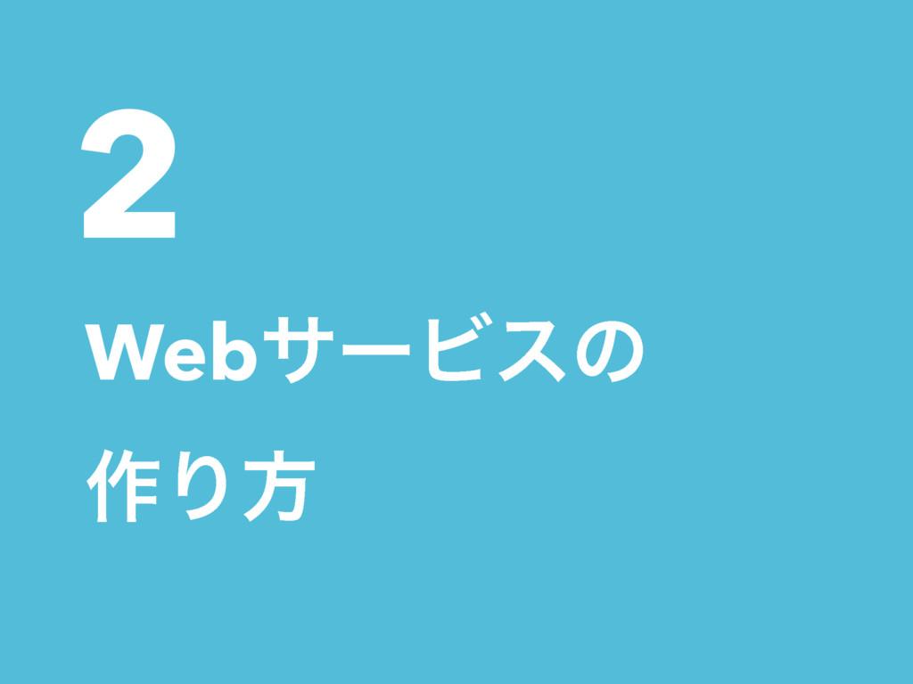 2 WebαʔϏεͷ ࡞Γํ