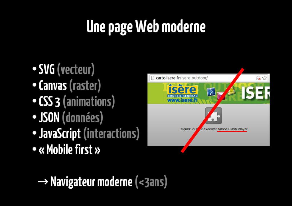 Une page Web moderne ● SVG (vecteur) ● Canvas (...