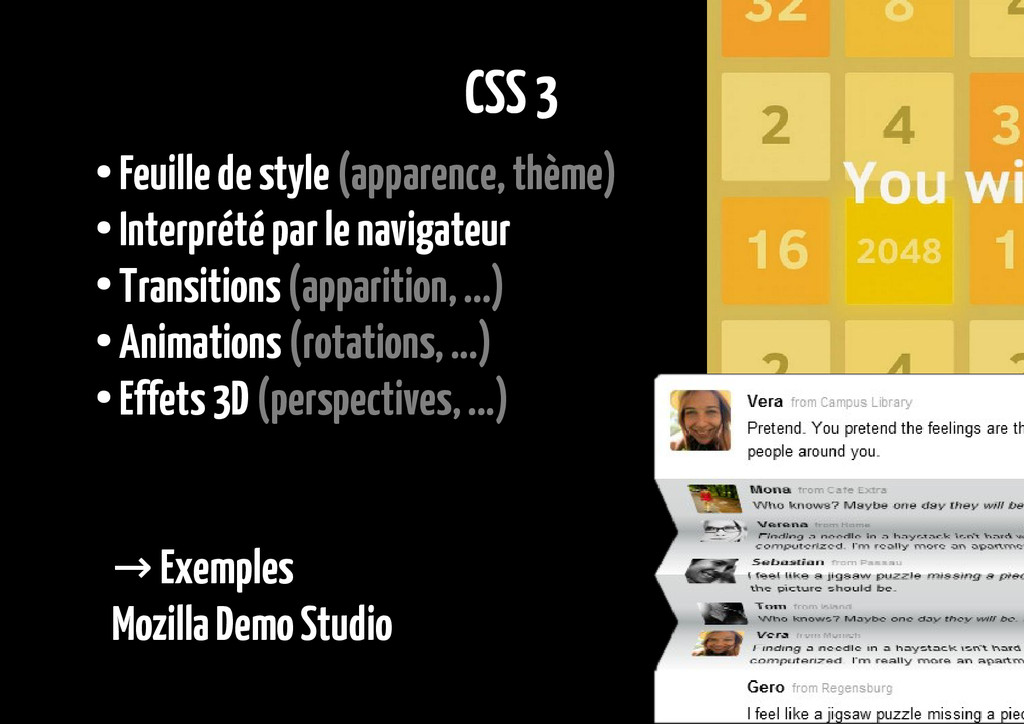 CSS 3 ● Feuille de style (apparence, thème) ● I...