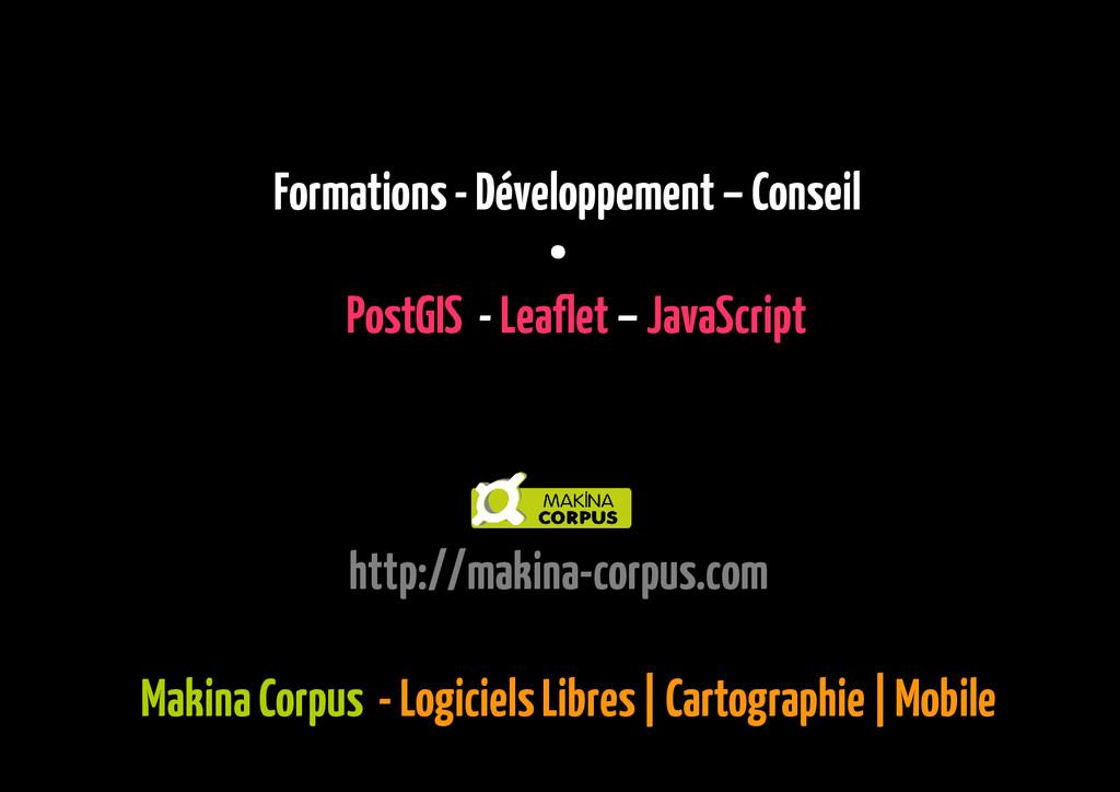 Makina Corpus - Logiciels Libres   Cartographie...
