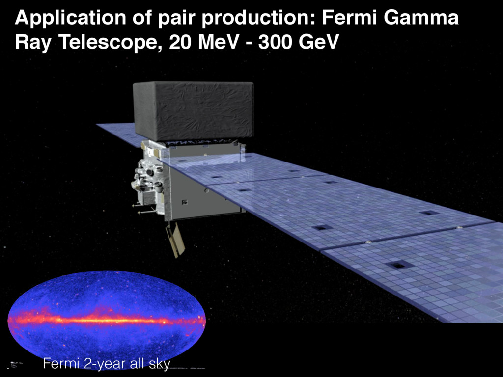 Application of pair production: Fermi Gamma Ray...