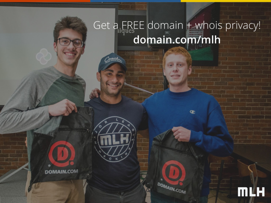 Get a FREE domain + whois privacy! domain.com/m...
