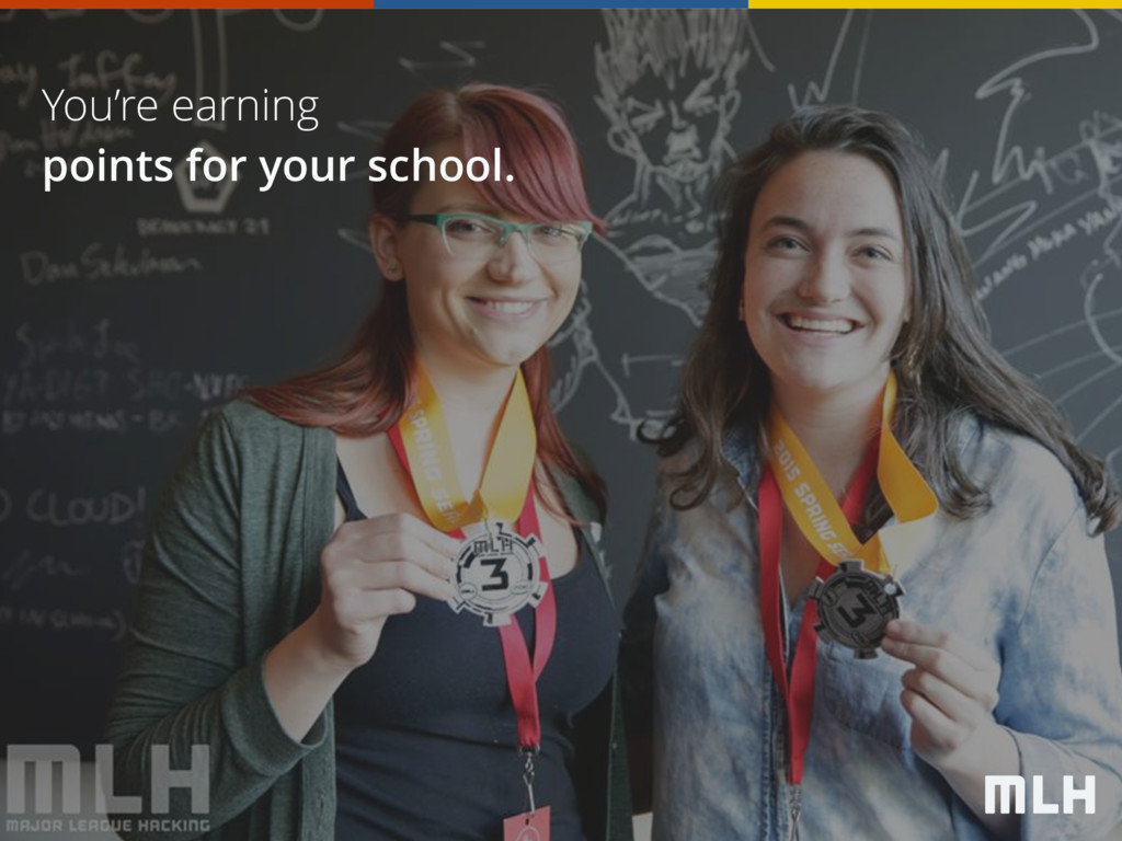 You're earning points for your school.