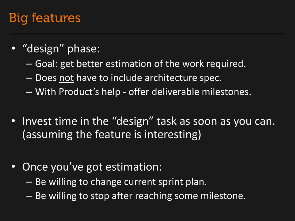 """• """"design"""" phase: – Goal: get better estimation..."""