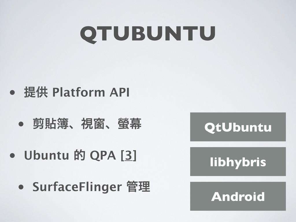 QTUBUNTU • ఏڙ Platform API • Ⴉషɺࢹᜬɺᦊນ • Ubuntu...