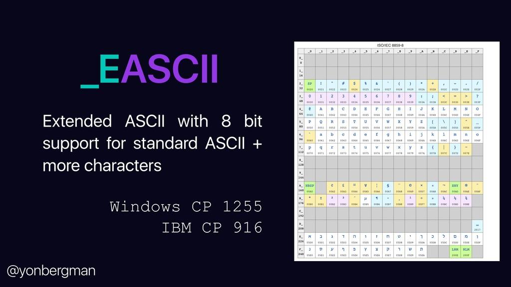 @yonbergman _EASCII Extended ASCII with 8 bit s...
