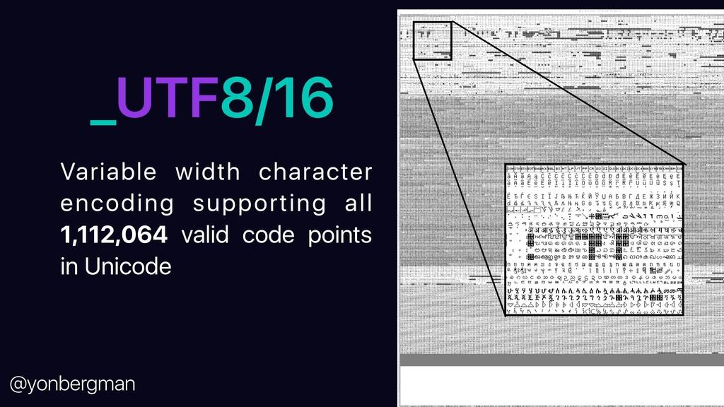 @yonbergman _UTF8/16 Variable width character e...