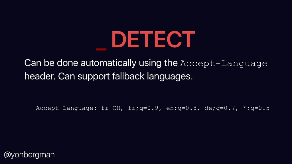 @yonbergman _ DETECT Can be done automatically ...