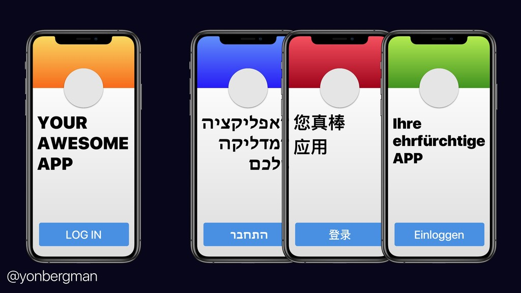@yonbergman YOUR AWESOME APP LOG IN ה א פ ל י ק...
