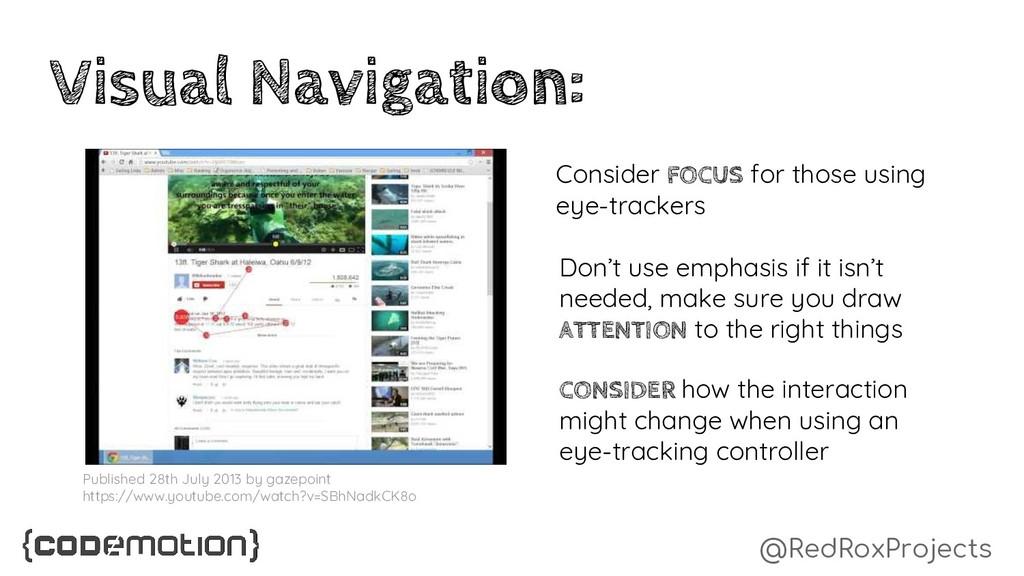 @RedRoxProjects Visual Navigation: Consider FOC...