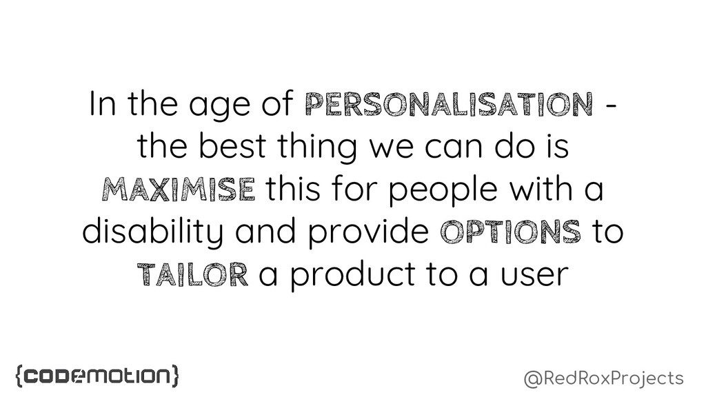 @RedRoxProjects In the age of PERSONALISATION -...