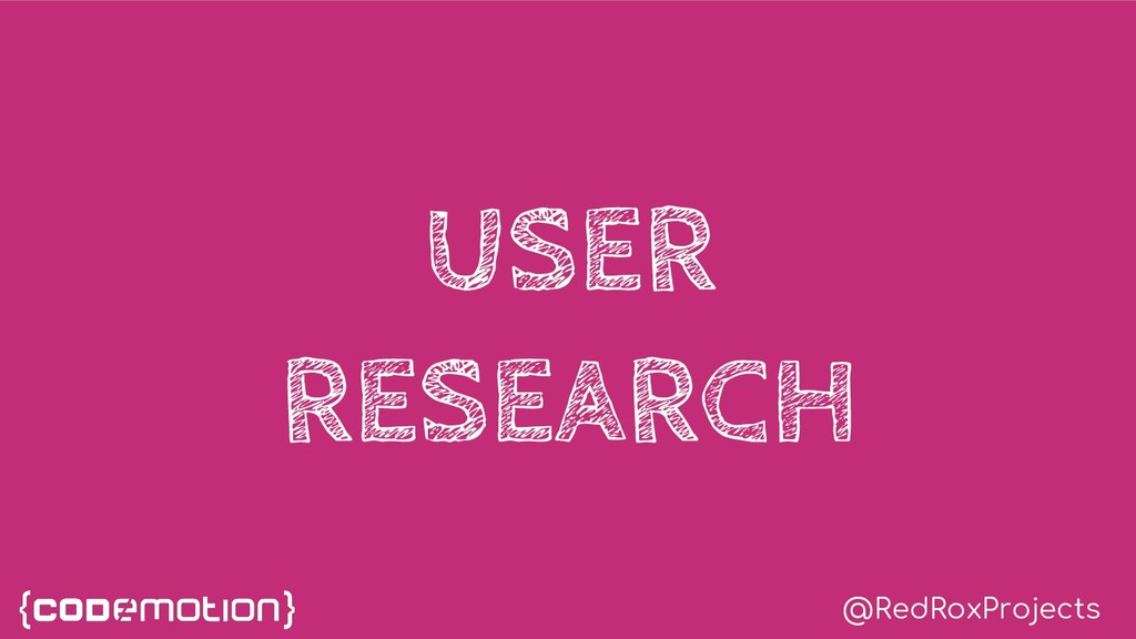 @RedRoxProjects USER RESEARCH