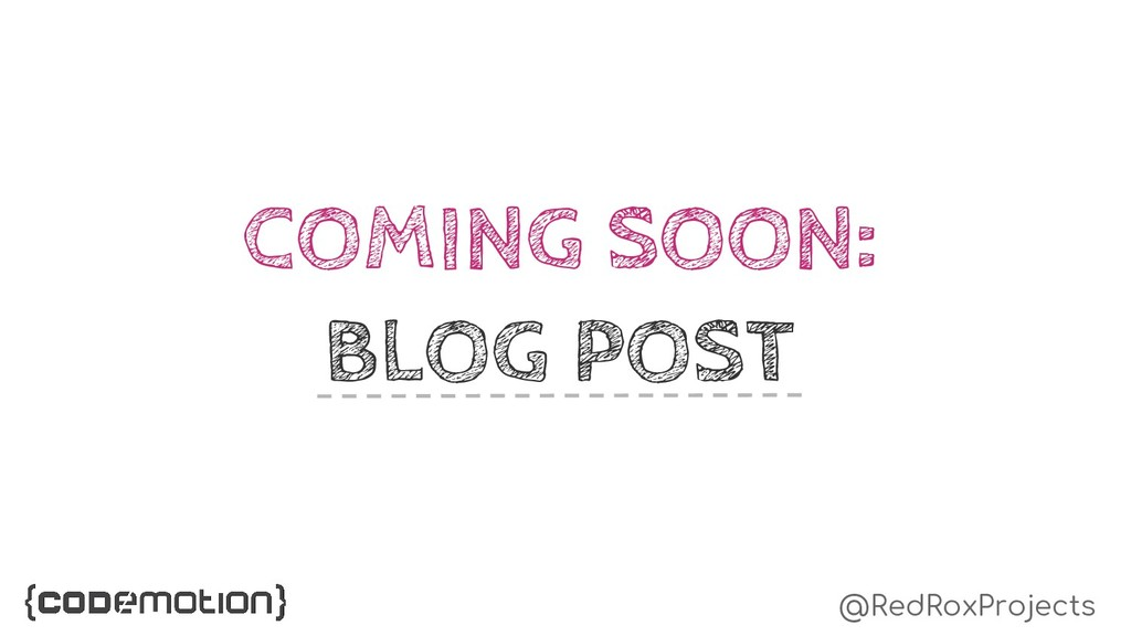 @RedRoxProjects COMING SOON: BLOG POST
