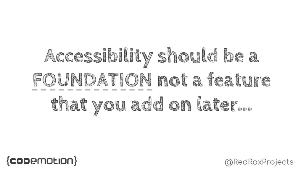 @RedRoxProjects Accessibility should be a FOUND...