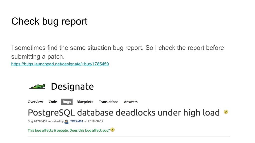 Check bug report I sometimes find the same situ...