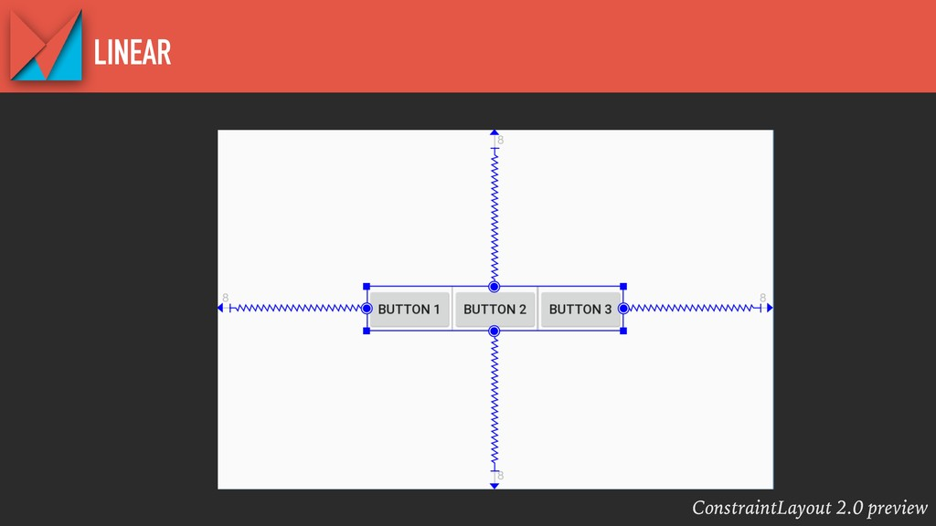 ConstraintLayout 2.0 preview LINEAR
