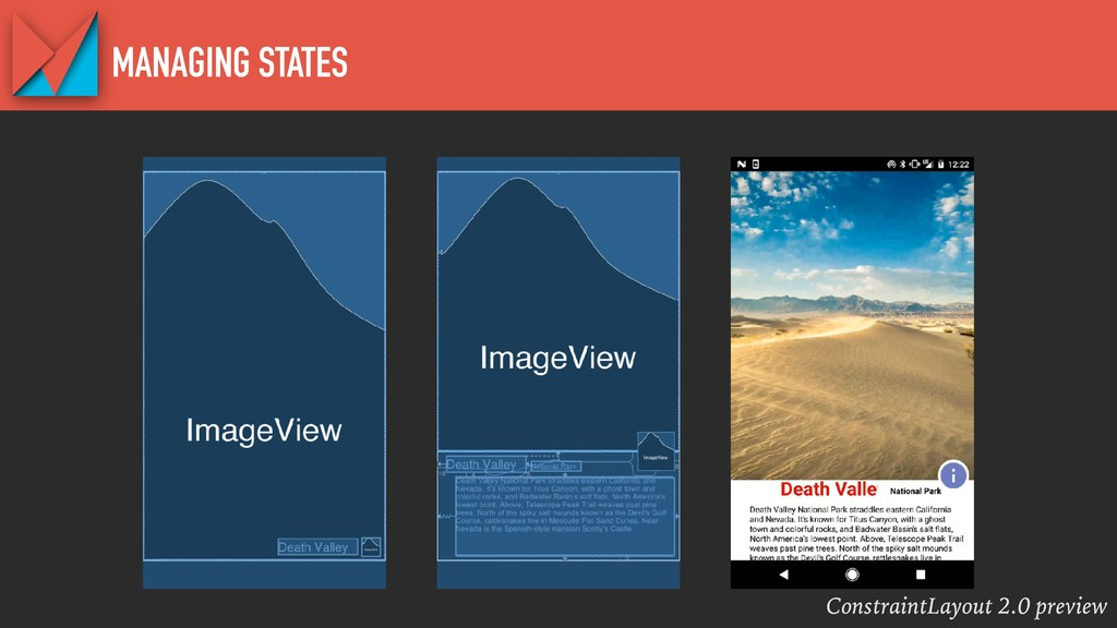 ConstraintLayout 2.0 preview MANAGING STATES