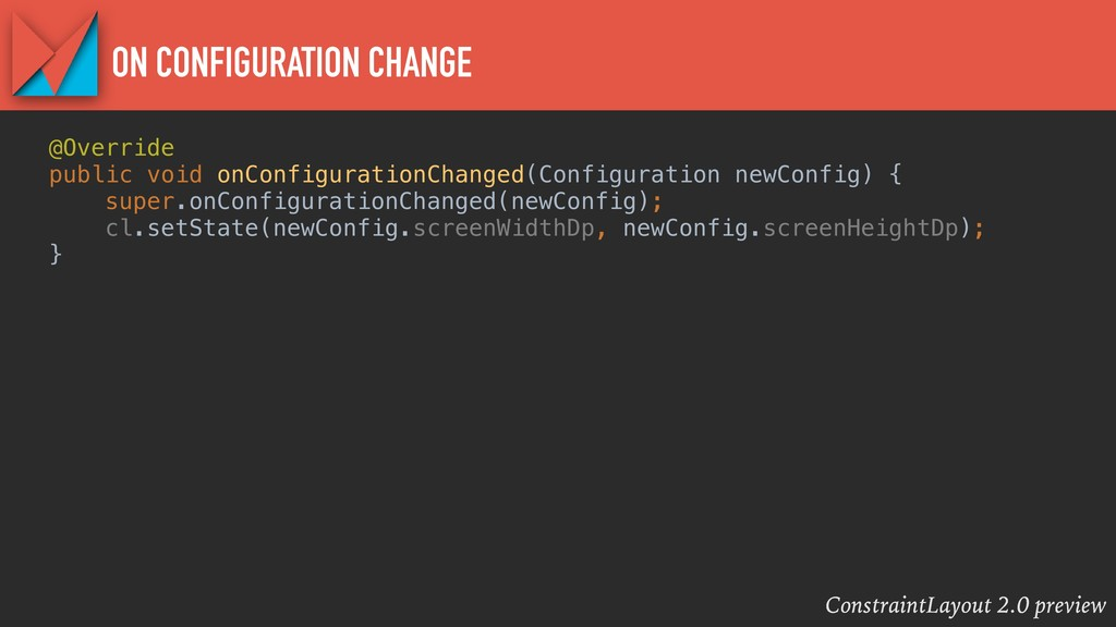 ConstraintLayout 2.0 preview ON CONFIGURATION C...