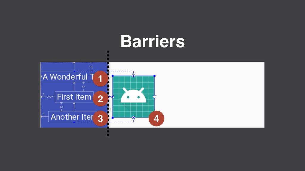 Barriers 1 2 3 4