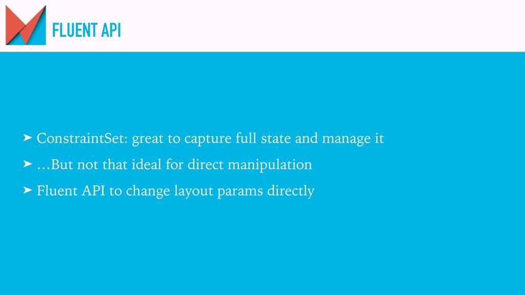 FLUENT API ➤ ConstraintSet: great to capture fu...