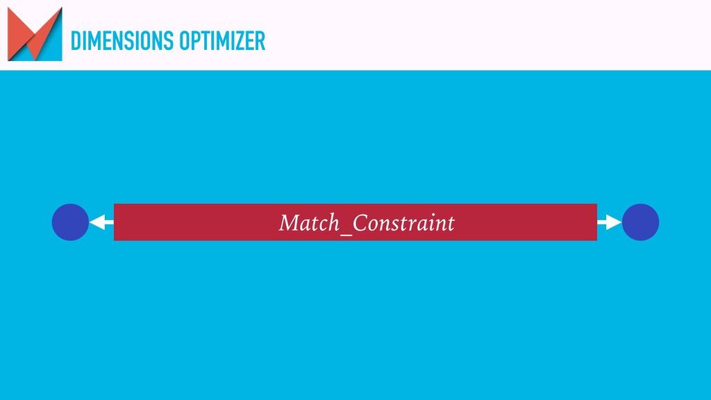 DIMENSIONS OPTIMIZER Match_Constraint