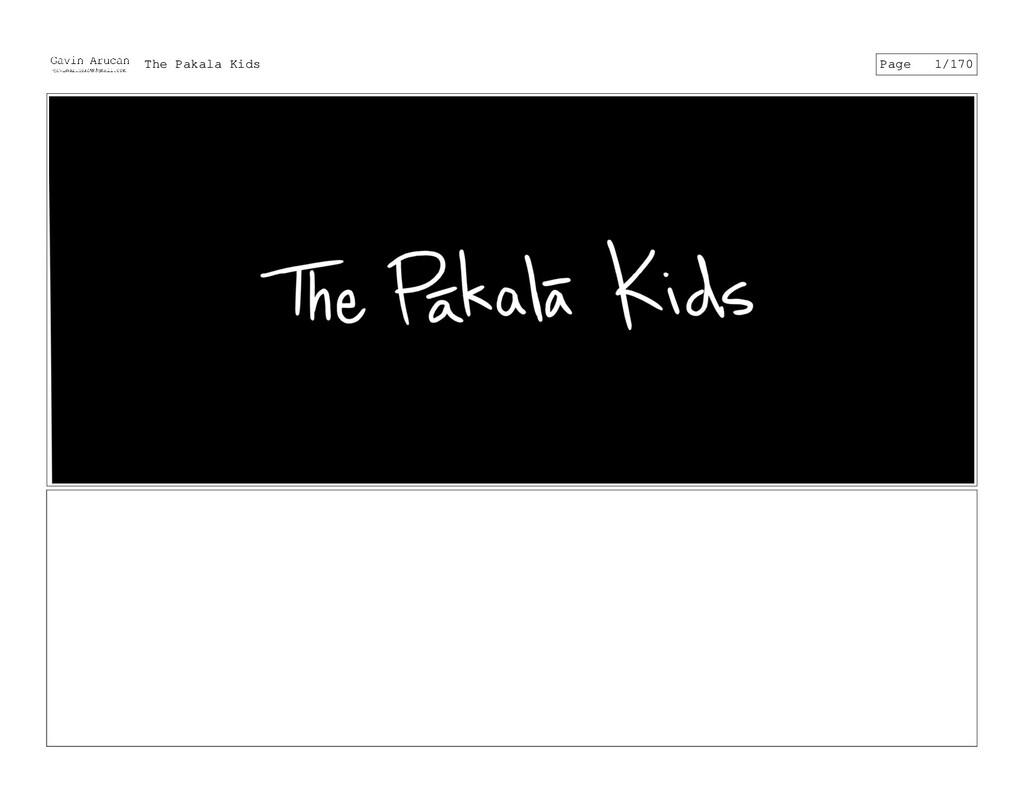 The Pakala Kids Page 1/170