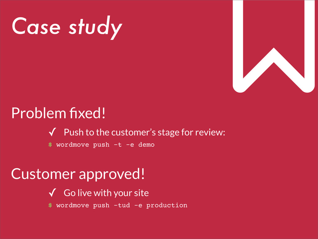 Problem fixed! ✓ Push to the customer's stage fo...