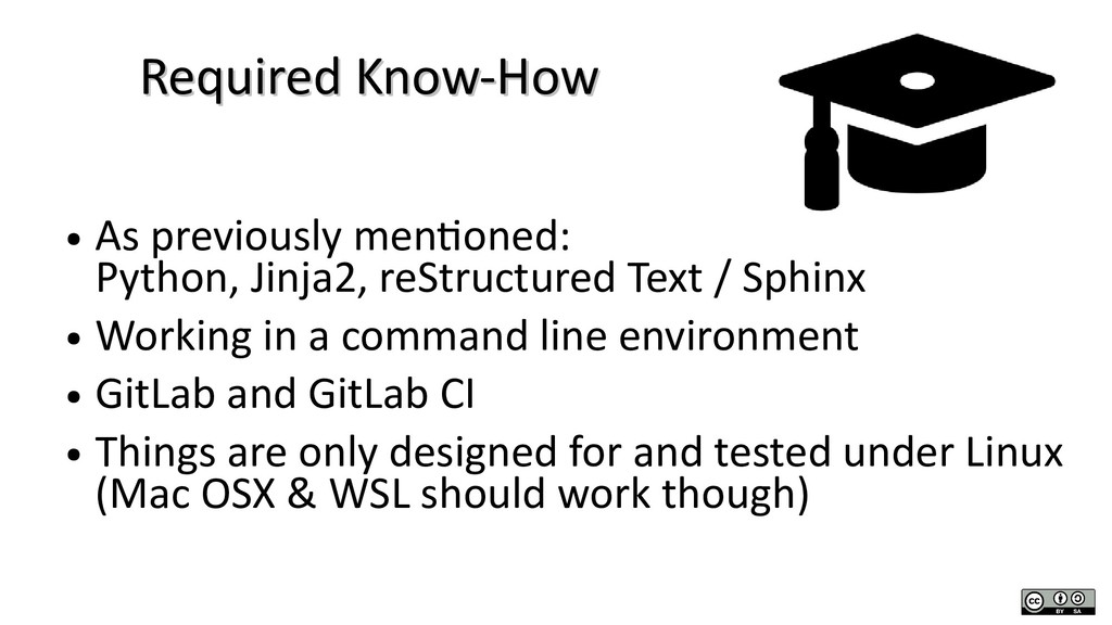 Required Know-How Required Know-How ● As previo...