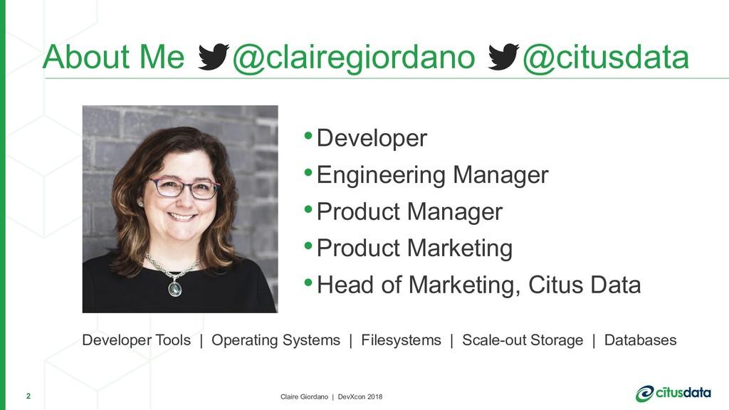 Claire Giordano | DevXcon 2018 •Developer •Engi...