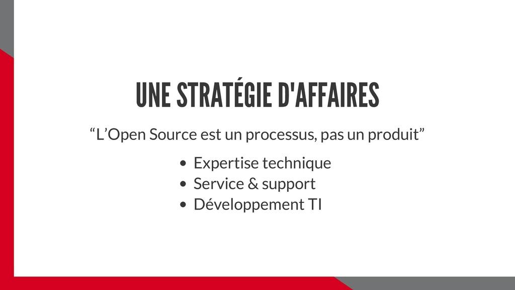"""UNE STRATÉGIE D'AFFAIRES """"L'Open Source est un ..."""