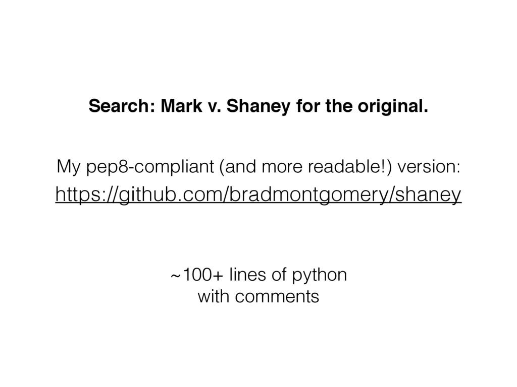 https://github.com/bradmontgomery/shaney Search...