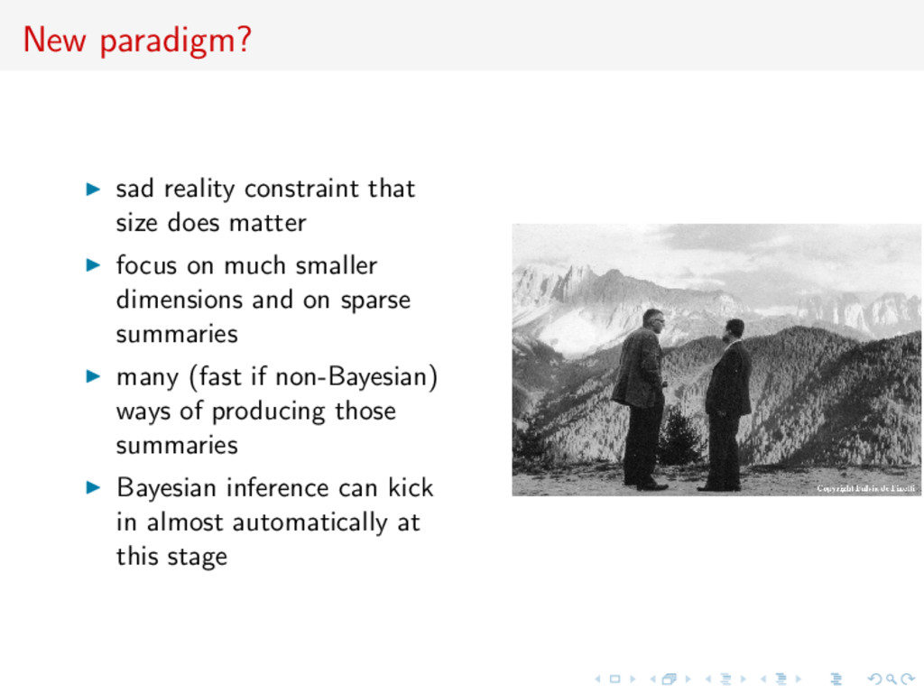 New paradigm? sad reality constraint that size ...