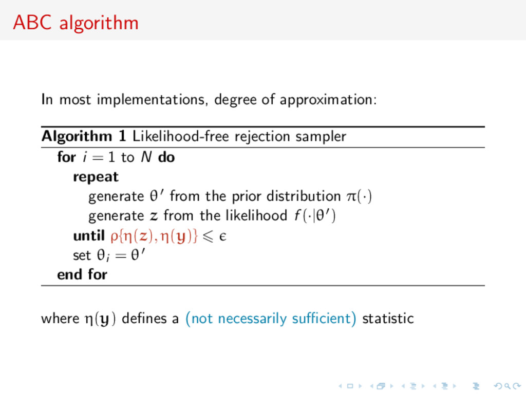 ABC algorithm In most implementations, degree o...