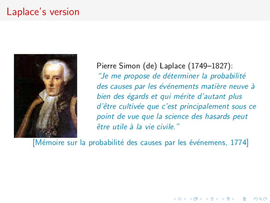Laplace's version Pierre Simon (de) Laplace (17...