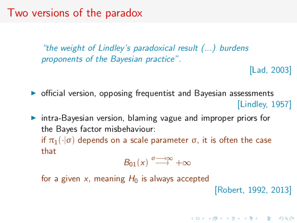 """Two versions of the paradox """"the weight of Lind..."""