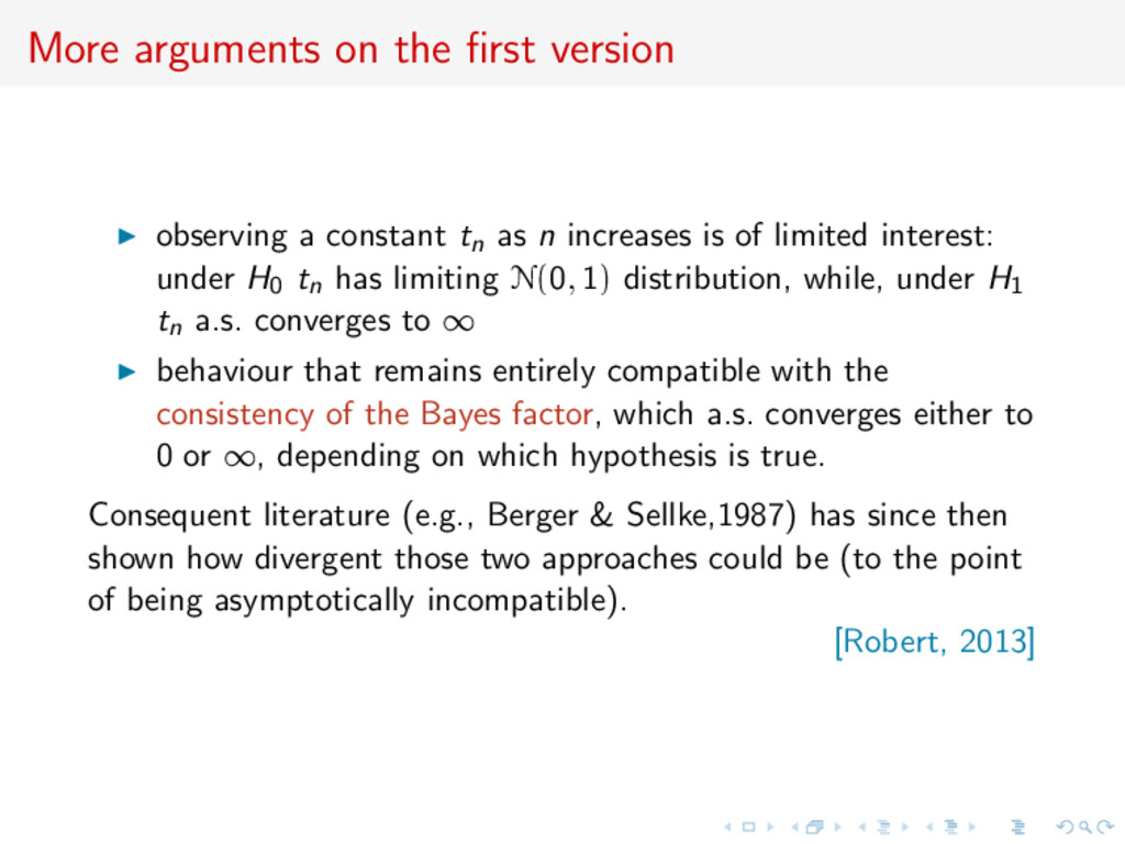 More arguments on the first version observing a ...