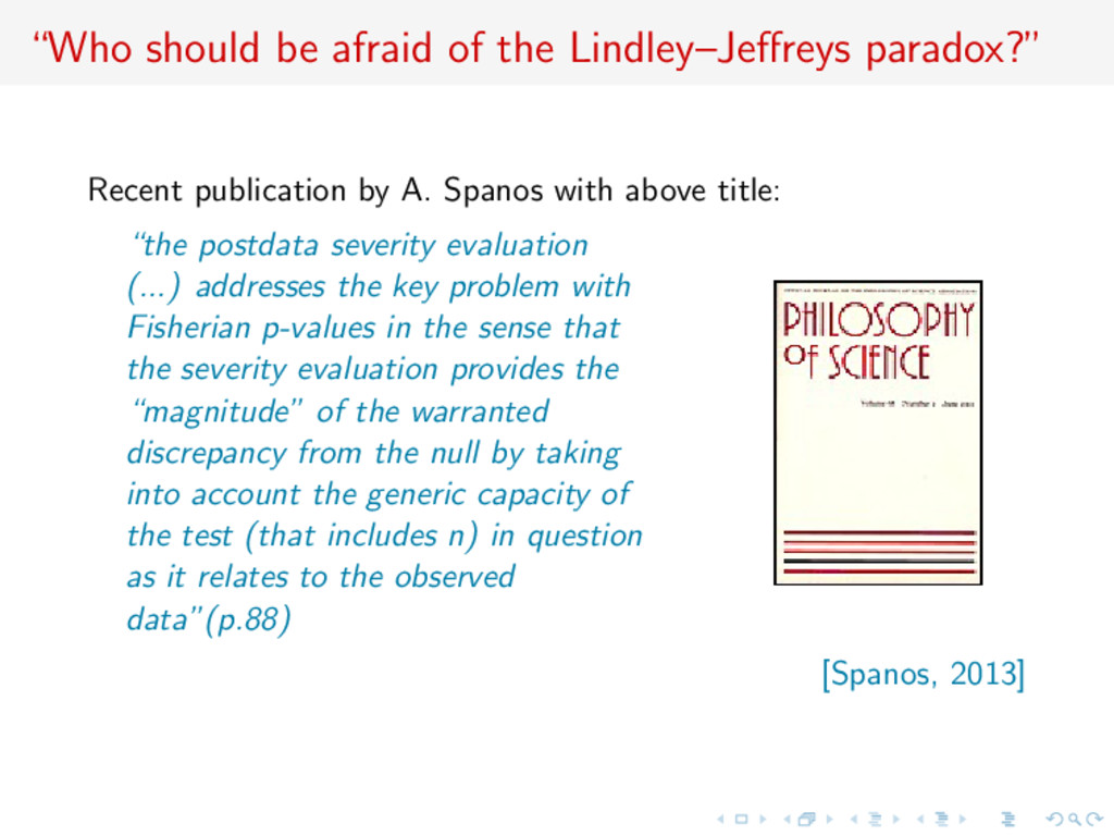 """""""Who should be afraid of the Lindley–Jeffreys pa..."""
